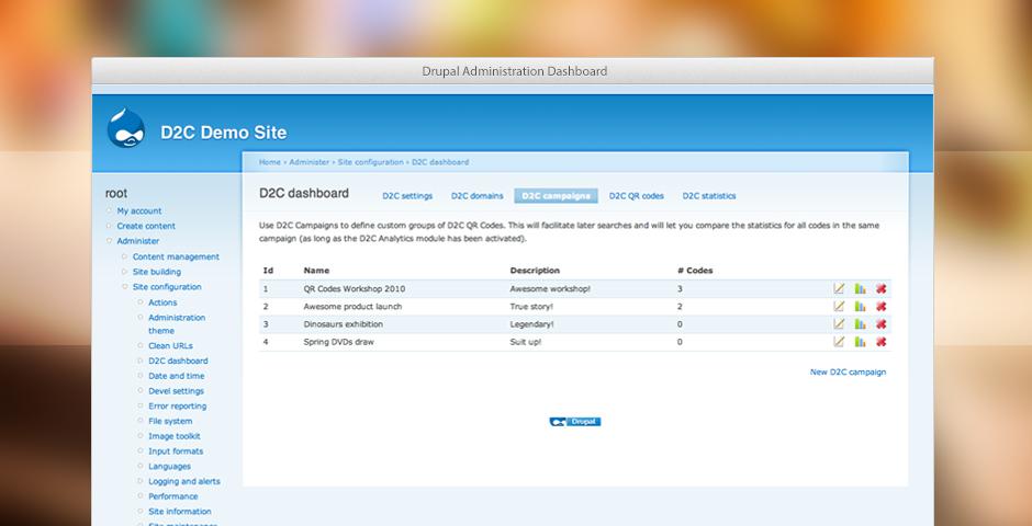 Drupal Admin Dashboard